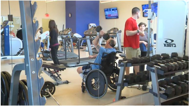 FOX61 News story screenshot of people working out at Chapter 126